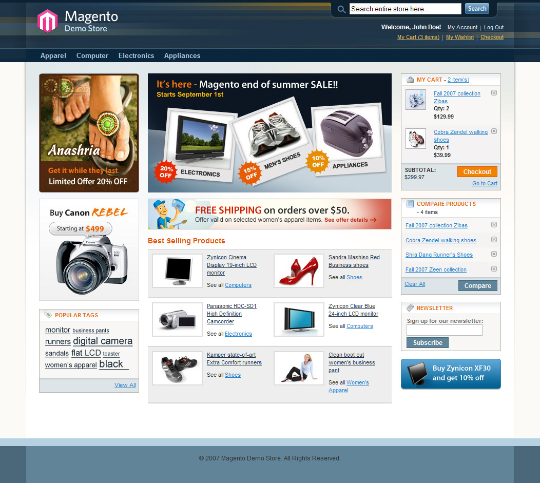 Magento Web Hosting and Shopping Cart Installation - SustaHost